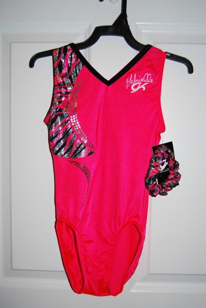 75eb3724a804 GK Elite Gymnastics Leotard - Gabby Douglas- Adult Large - Coral ...
