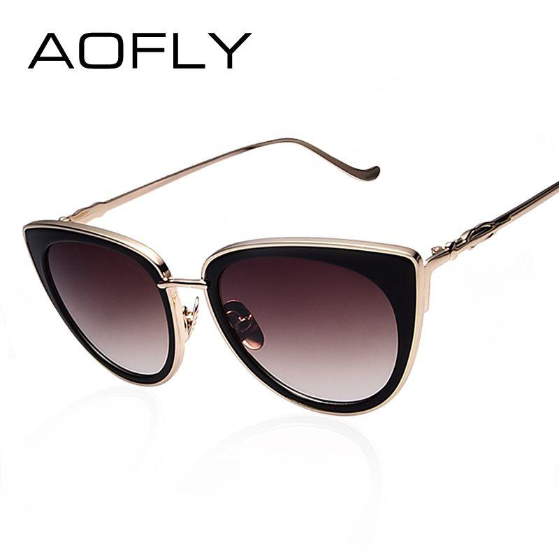 Aofly metallrahmen cat eye frauen sonnenbrille weibliche ...