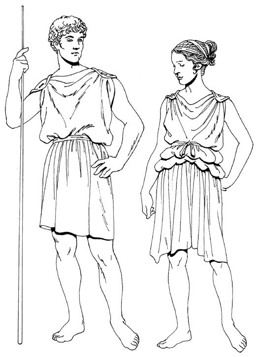 athens clothing coloring pages - photo#30