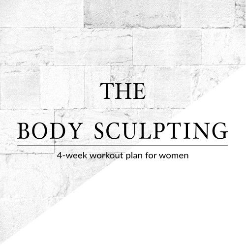 Follow This 4 Week Body Sculpting Workout Plan For Women To Sculpt Tone And Tighten Your Improve Fitness Level Reach Exercise Goals At