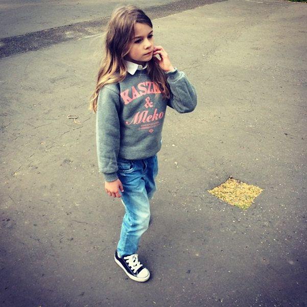 'Kaszka & Mleko' - Bluza BK - Szara