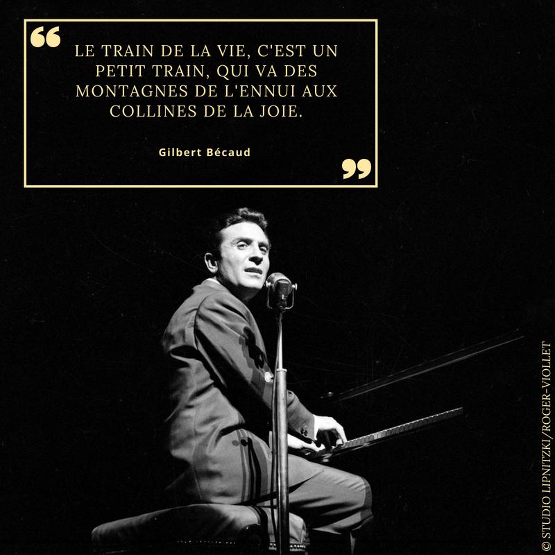 Gilbert Bécaud 1927 2001 Chanteur Français Paris