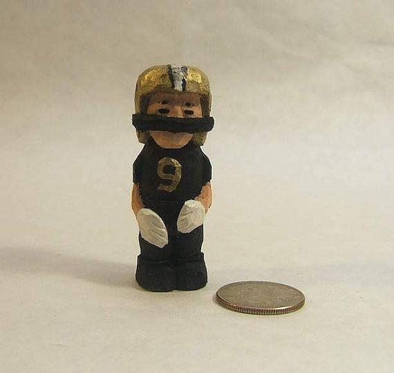 Handmade Miniature Football Player Good Luck by ClaudesWoodcarvingc#etsyspecialT #etsymntt #integrityTT