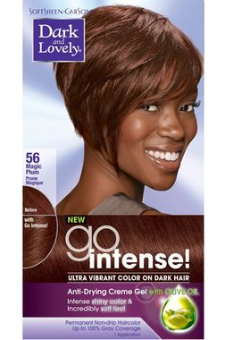 Dark And Lovely Go Intense Hair Color 56 Magic Plum Hair Color Magic Hair Permanent Hair Color