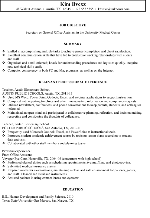 resume examples secretary 1 resume examples pinterest sample