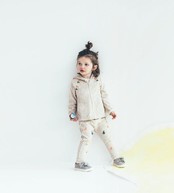 ZARA - KIDS - CARDIGAN WITH BUNTING EMBROIDERY