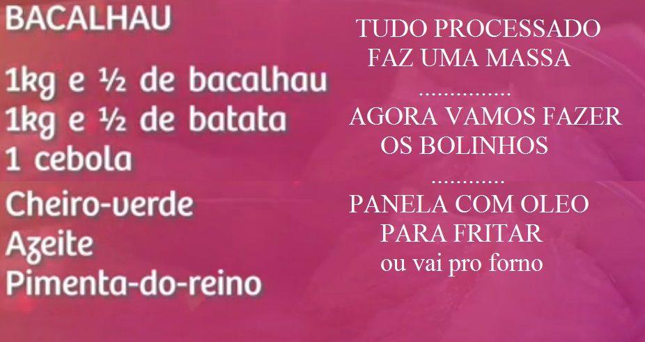 COMIDA - receita do bolinho deBACALHAU  da vovó ilza = SÓ FICA BOM ASSIM - NO FORNO E PRONTO