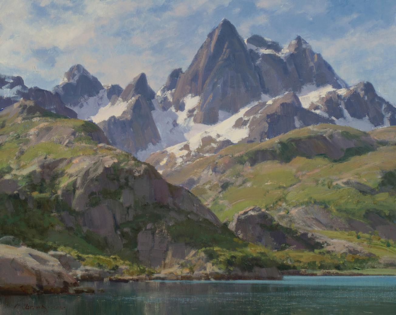 High Mountain Lake Clyde Aspevig Artist Art