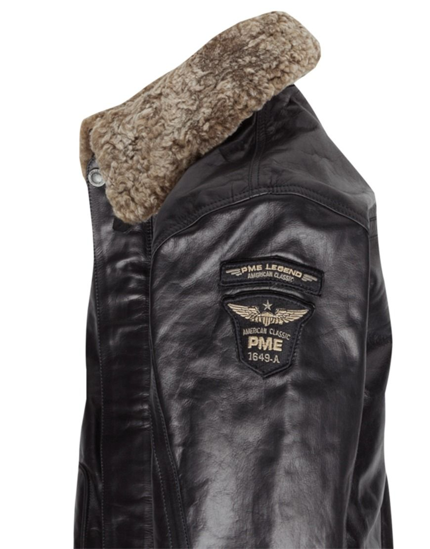 7886a8adcbf Koop Jas - Leather Jacket Teddy Collar Black Online op www.localsunited.nl  voor slechts € 399,95. Vind 268 andere PME Legend producten op ...