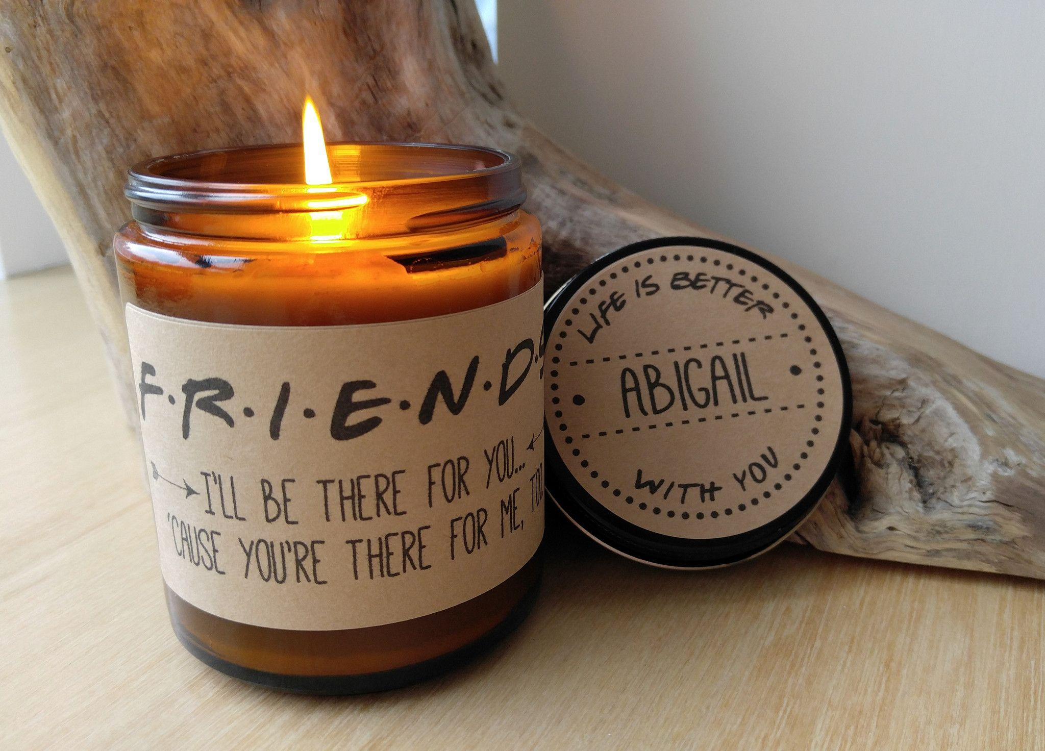 Friend gift friends tv show soy candle friend birthday