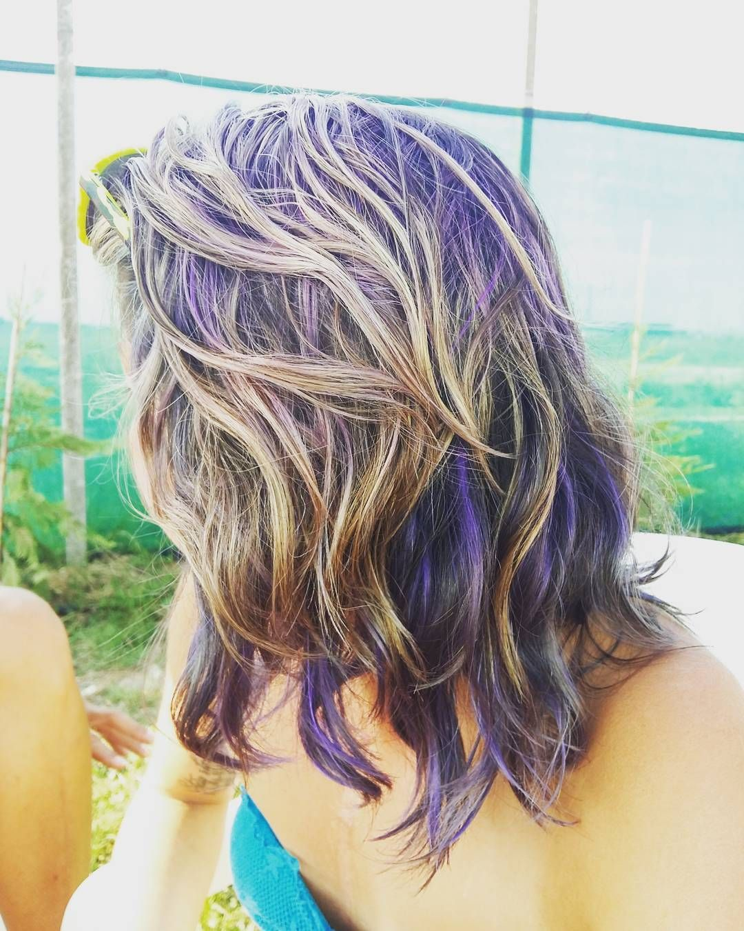 Layered And Textured Violet Peek A Boos Lovely Locks Hot Hair