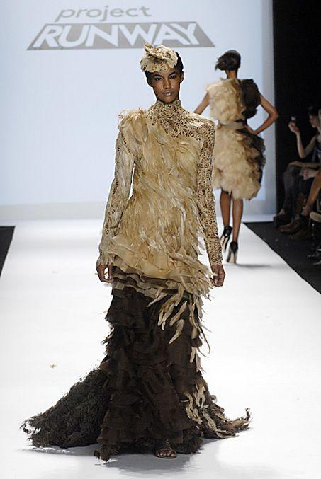 Christian Siriano S Dress On The Season Finale Of Project Runway Project Runway Dresses Runway Outfits Project Runway Designer