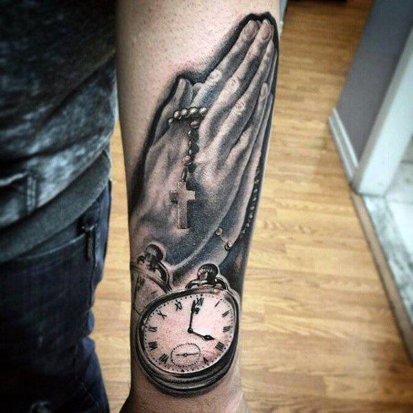 08ce5ada9 Praying Hands Tattoos for Men | Spiritual Tattoos for Men | Praying ...