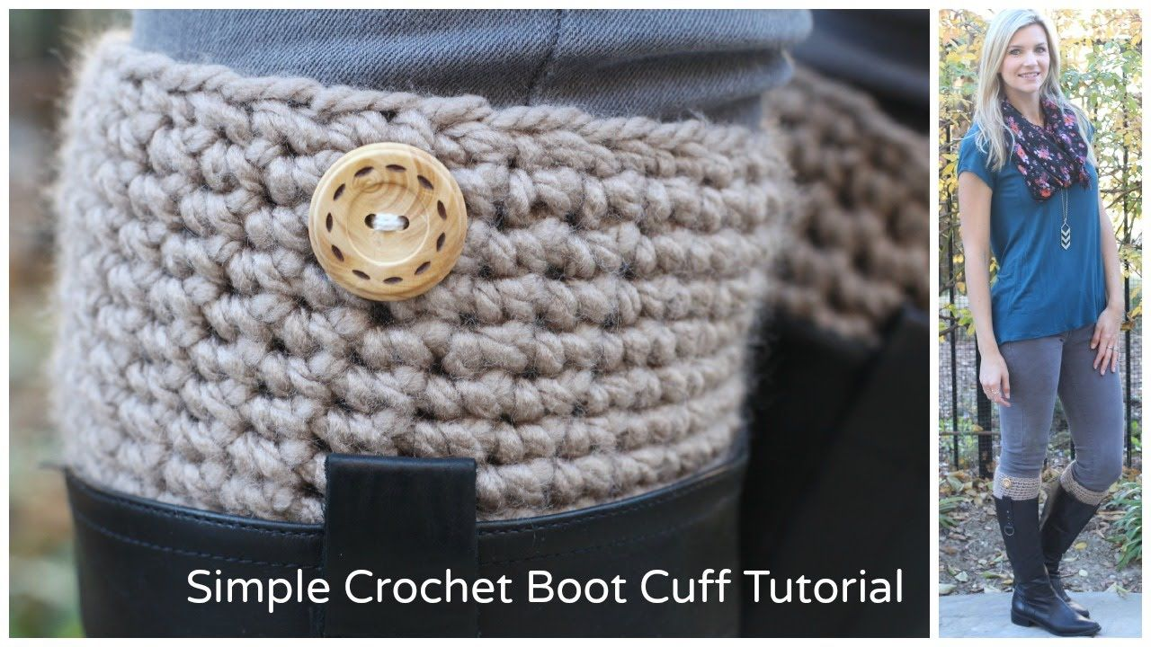Simple Crochet Boot Cuff Tutorial with step by step, easy to follow ...