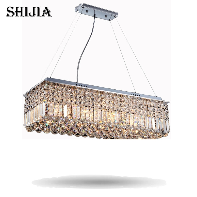 206 38 know more long size rectangle crystal pendant light