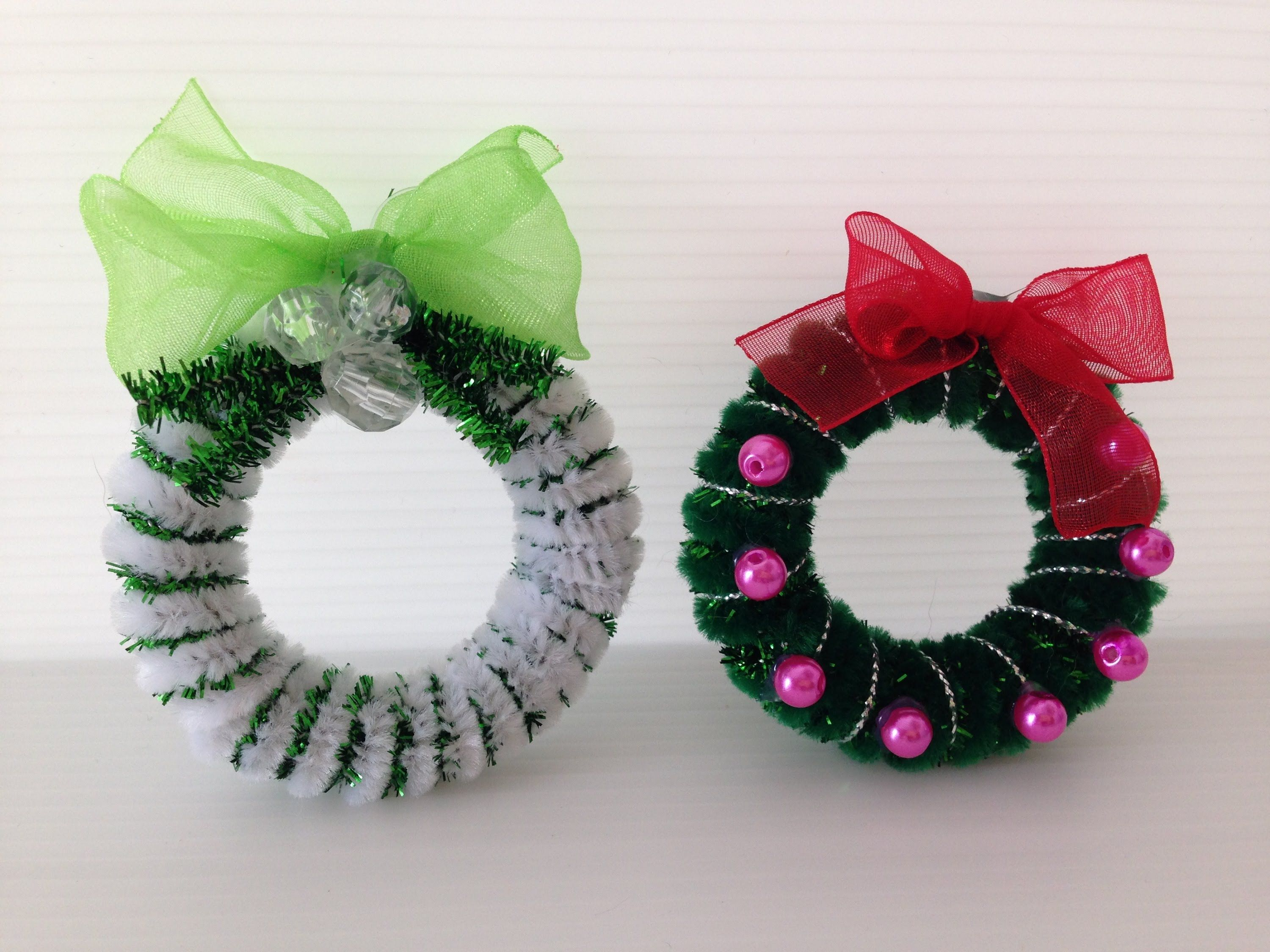 Pipe cleaners for crafts - Diy Pipe Cleaner Christmas Wreath New