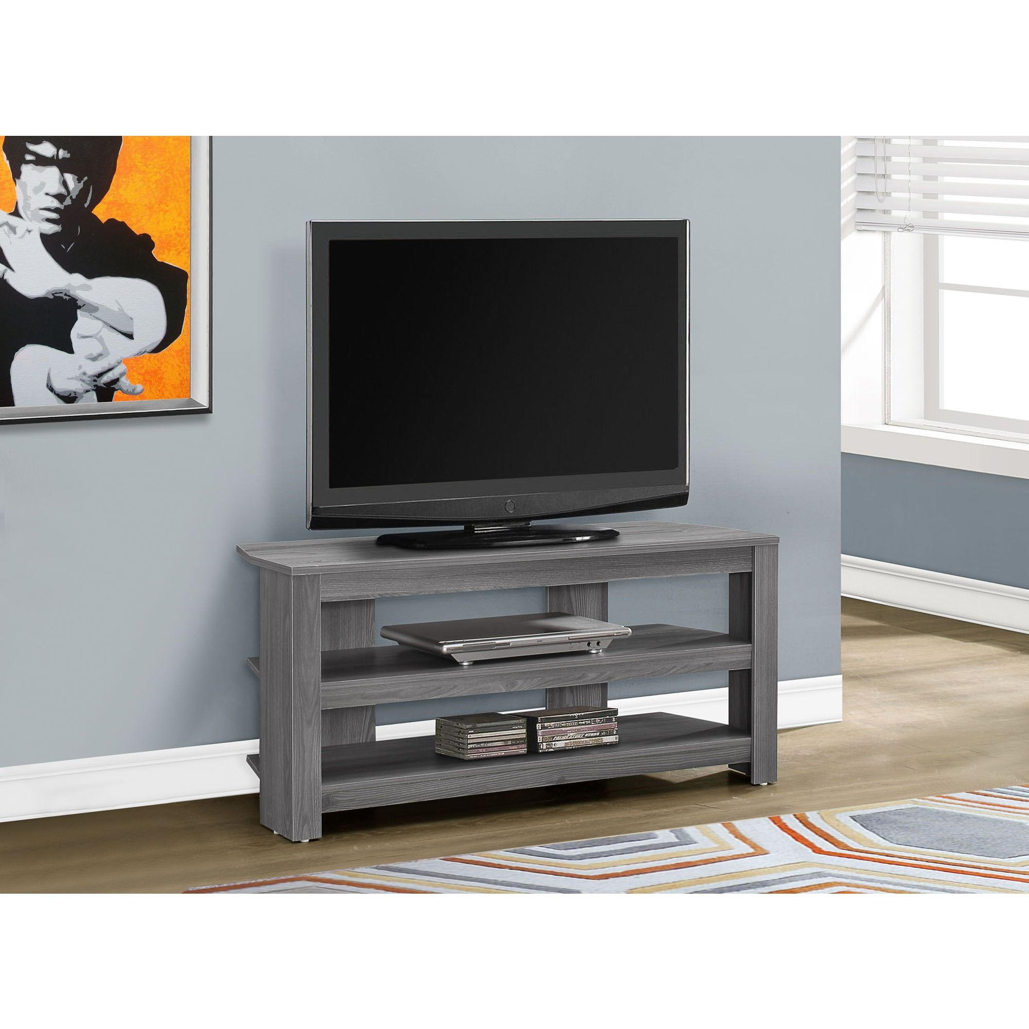 Tv Stand 42 L Grey Corner Overstock Com Shopping The Best Deals