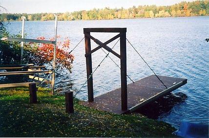 Cantilevered docks dock pond pinterest dock ideas for Pond pier designs