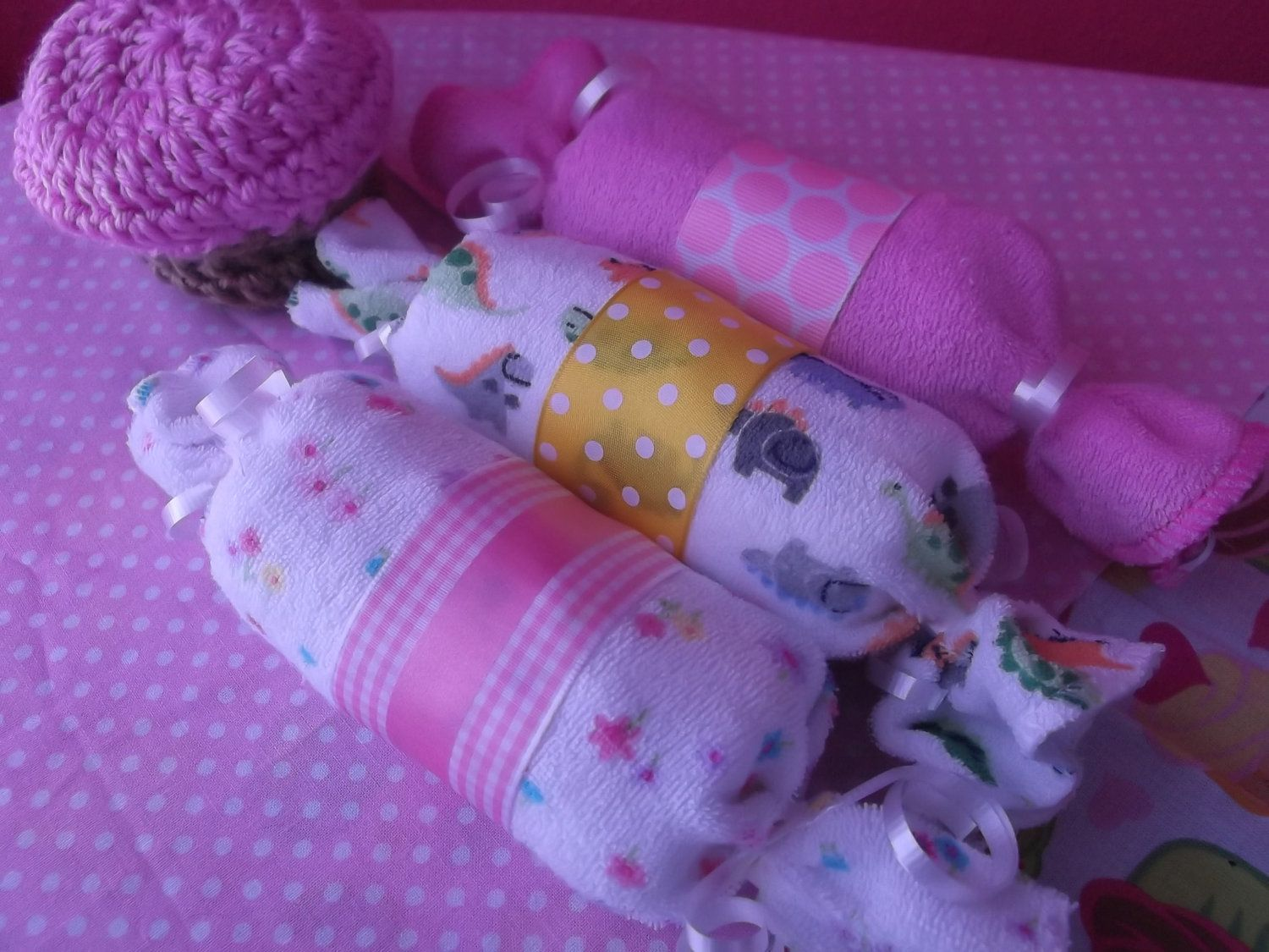 Baby Shower Gifts Crafts ~ Baby candy diaper and washcloth gift set baby shower gift