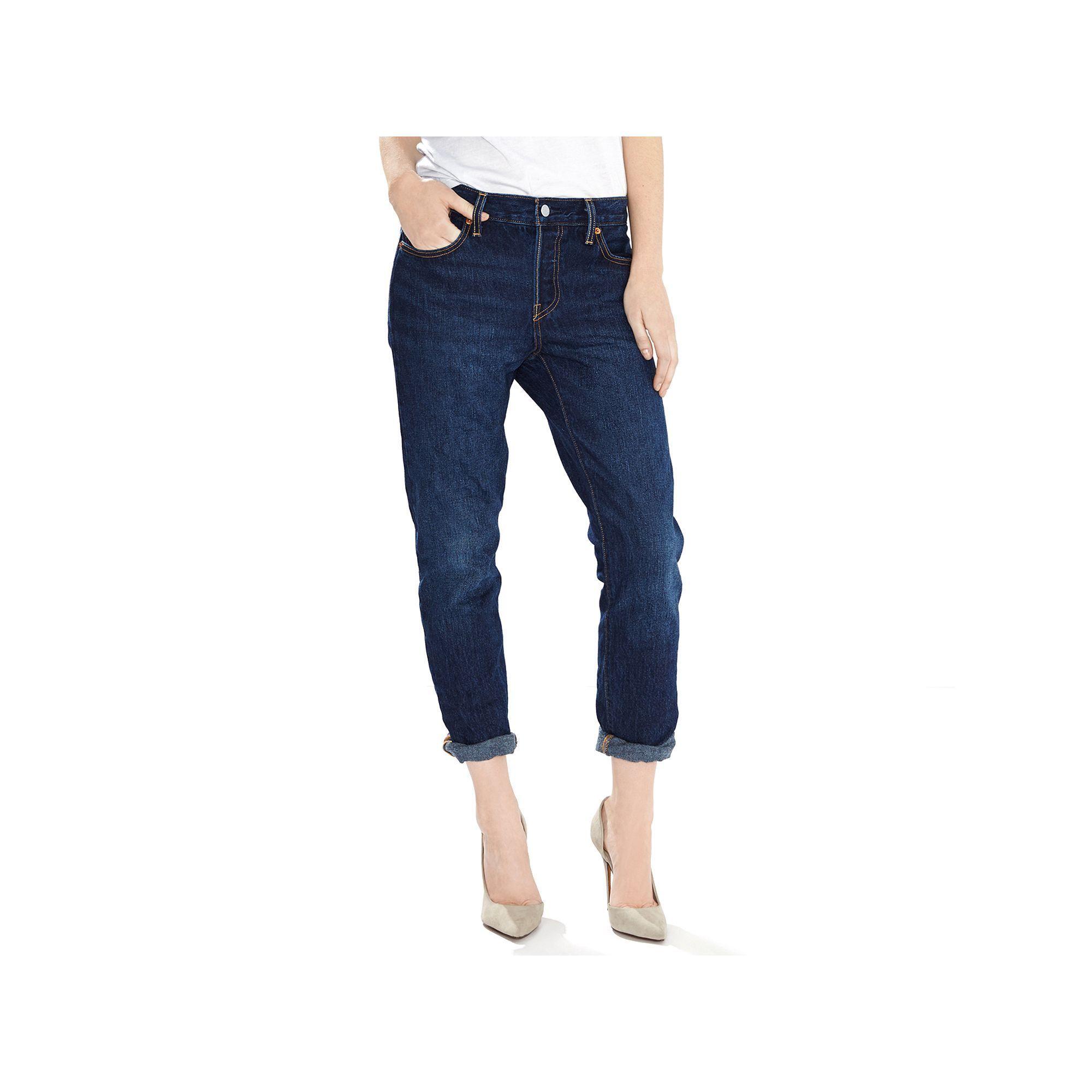 Levi's® 501® CT Boyfriend Jeans, Size: 00/24 Tall, Med Blue