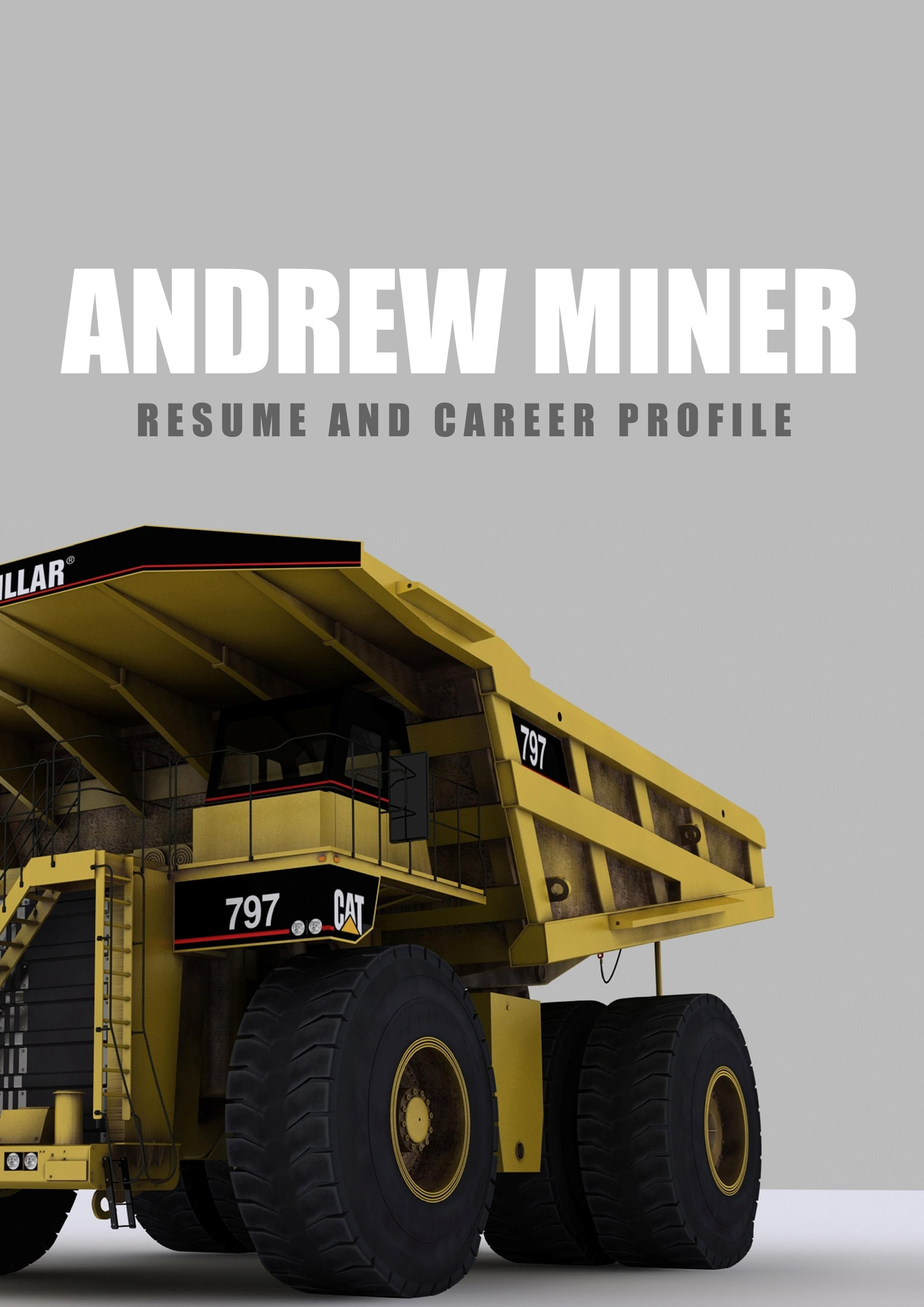 We can help with professional mining resume writing