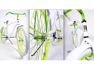 Wow! Talk about a fab bike! Love the green!