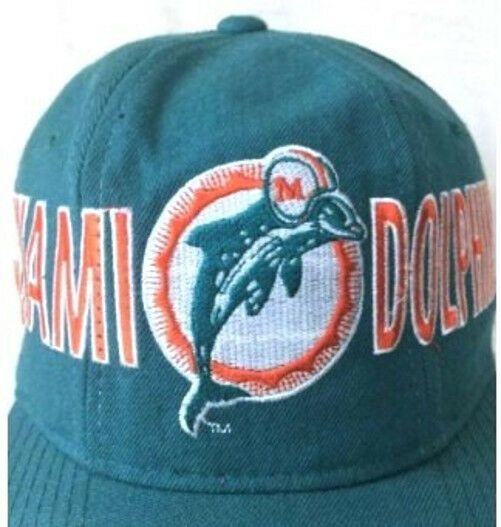 Vintage 90 s STARTER Football Miami Dolphins NFL 100% Wool Snapback Hat Cap  NOS  Starter  MiamiDolphins 16ccb221c