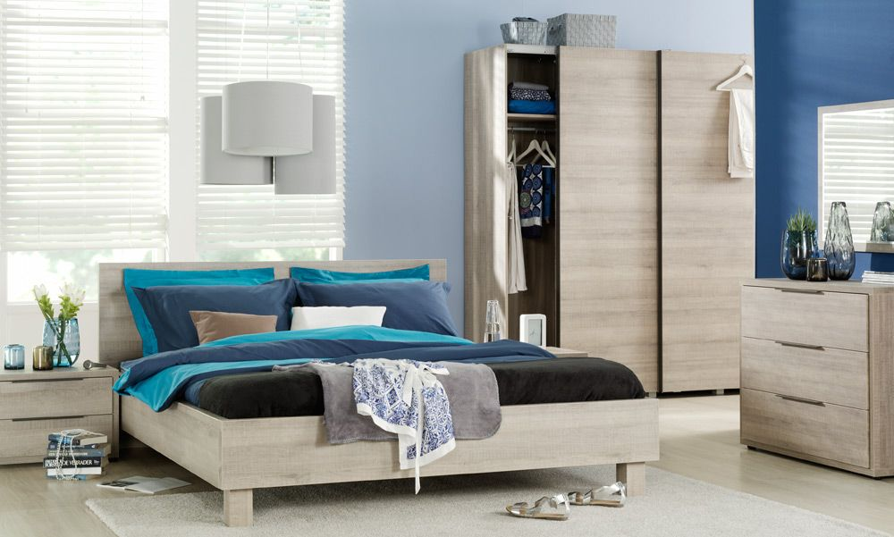 slaapkamer miami moderne meubels waaronder het ledikant