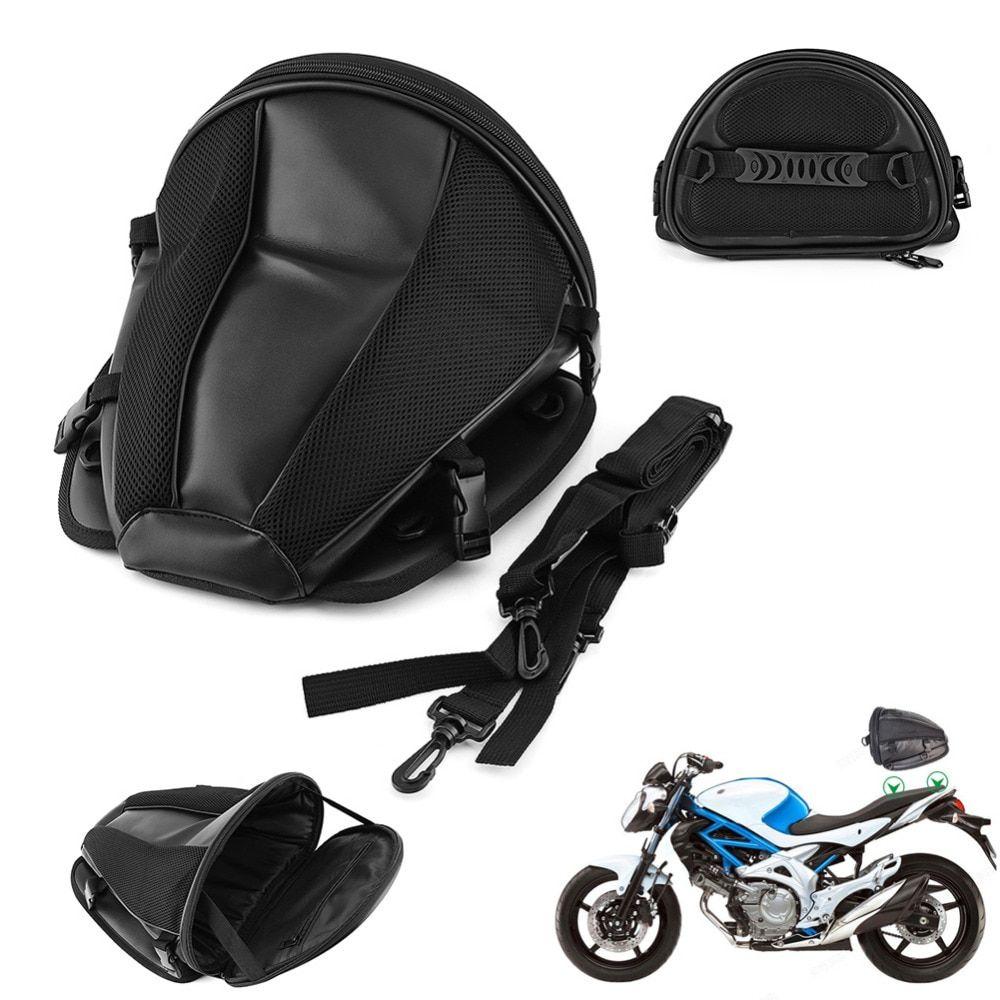 Motorcycle Bike Sports Waterproof Back Seat Carry Bag Luggage Tail Bag Saddlebag
