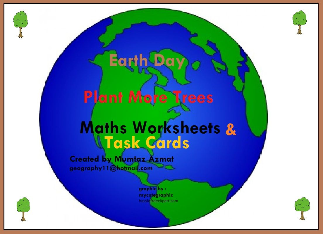 Earth Day Maths Worksheets Amp Task Cards There Are 3