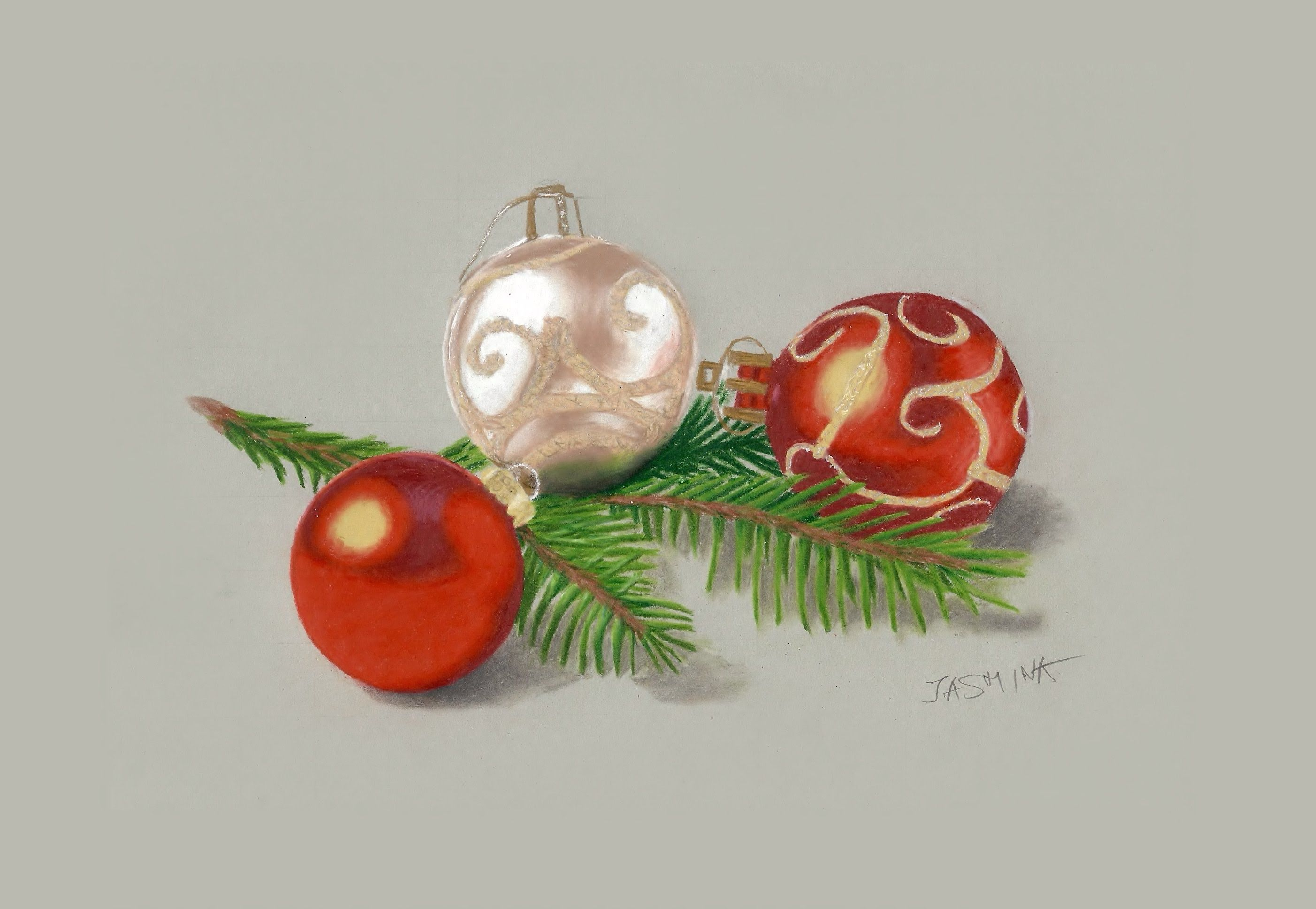 Colored Pencils Drawing Christmas Tree Decorations Time Lapse Ornament Drawing Pencil Drawing Images Tree Tattoo Designs