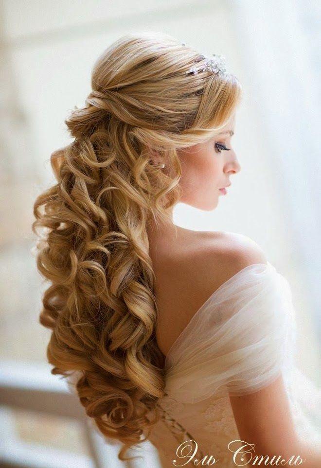 Penteados semi presos para noivas com veu