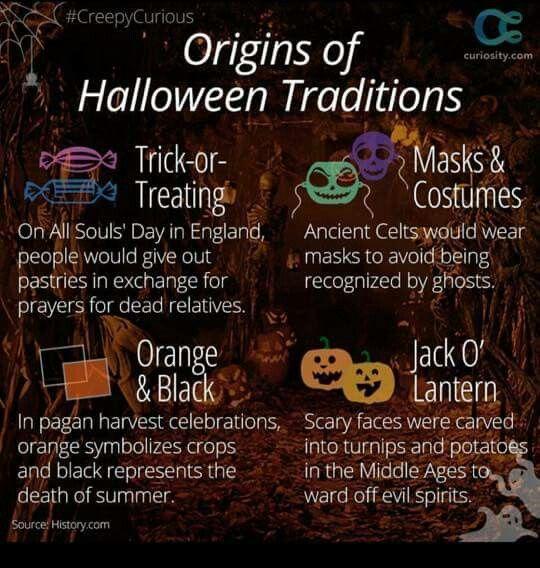Origins of Halloween traditions   Halloween   Pinterest ...