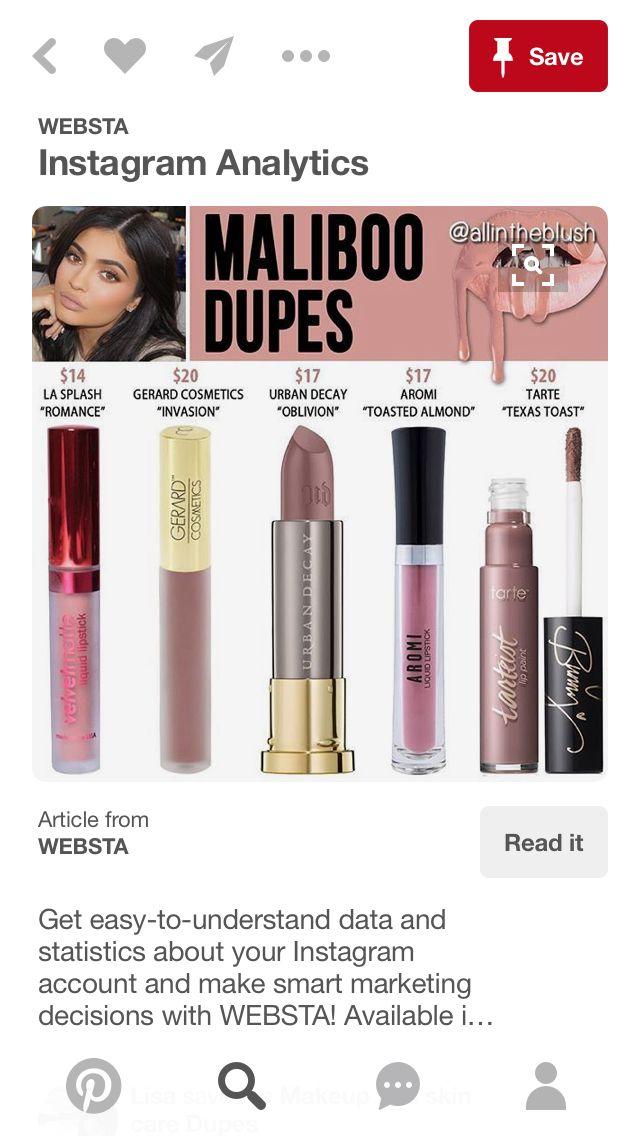 Kylie Jenner Lip Kit, Drugstore
