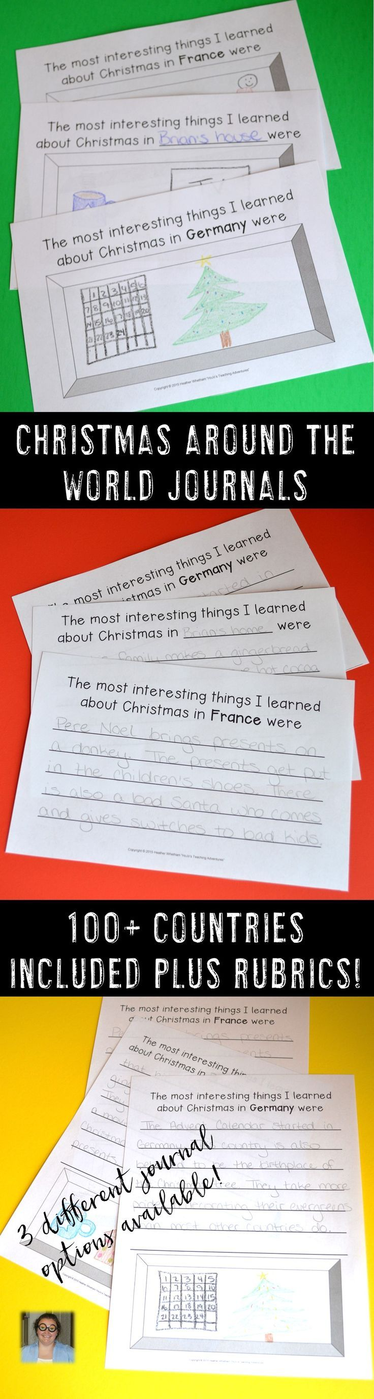 Christmas Around the World is a great activity for your Kindergarten