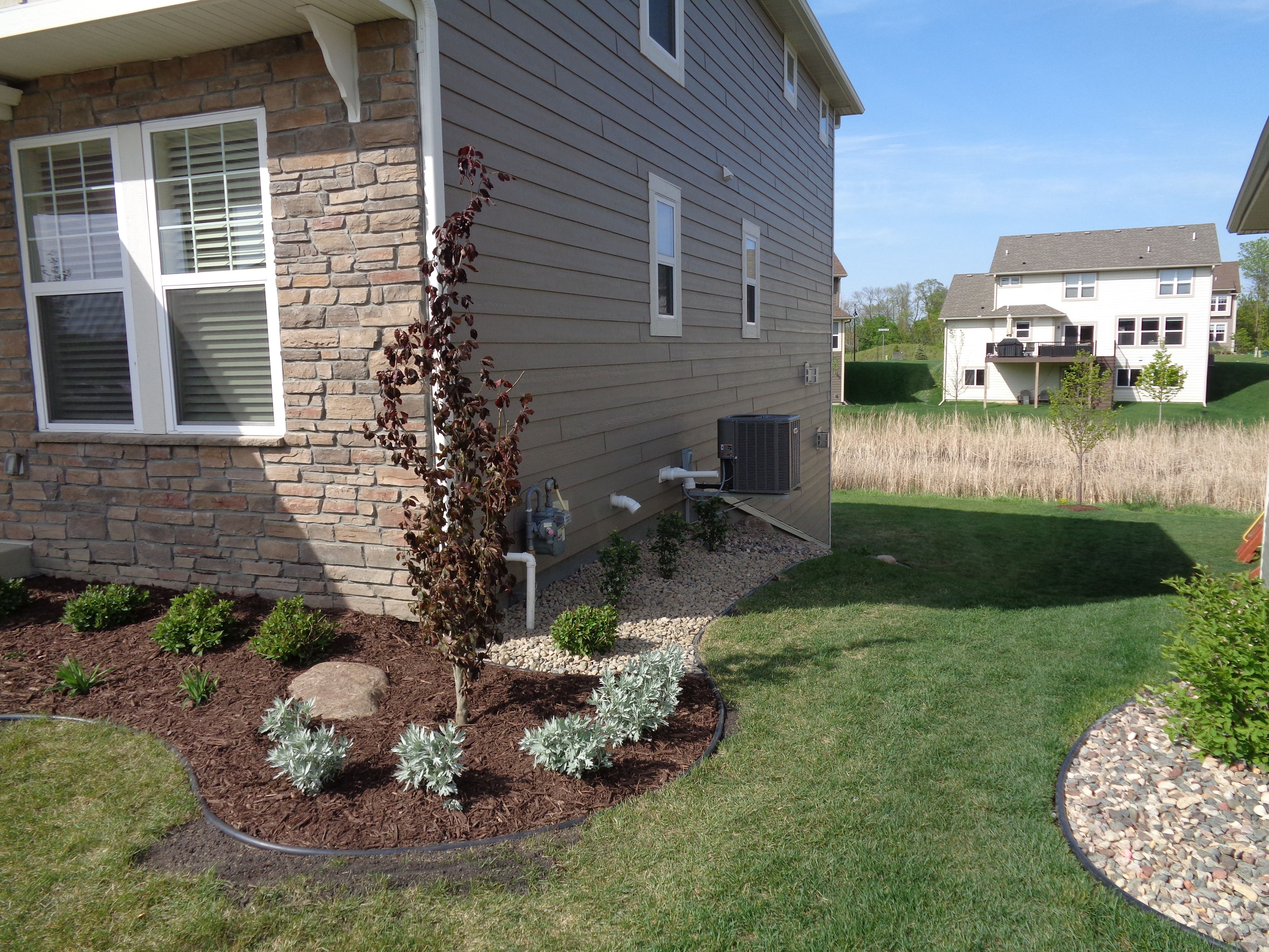 newly installed landscape and paver patio in the twin cities by