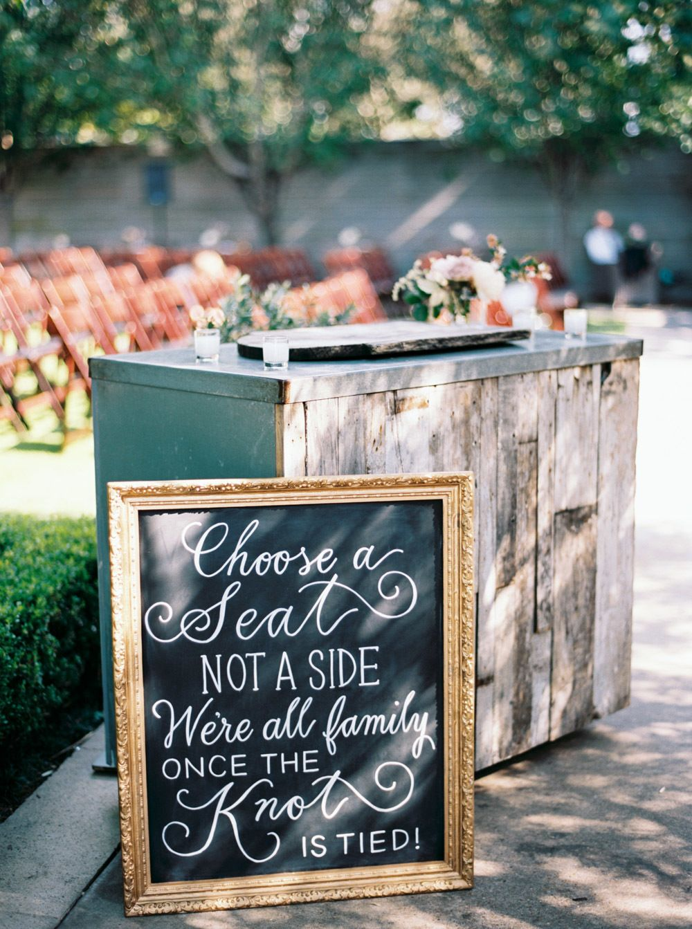 The Southern Hometown Wedding Of Our Dreams Wedding Chalkboard Wedding Vintage Wedding Decorations