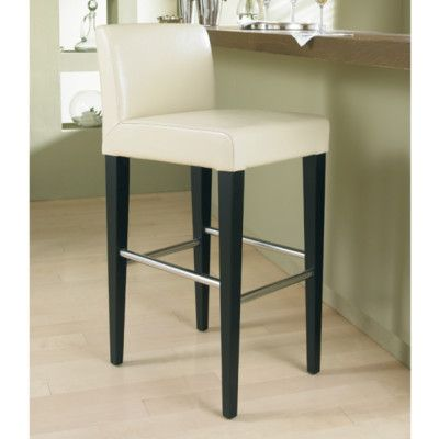 Fresh Beige Leather Counter Stools