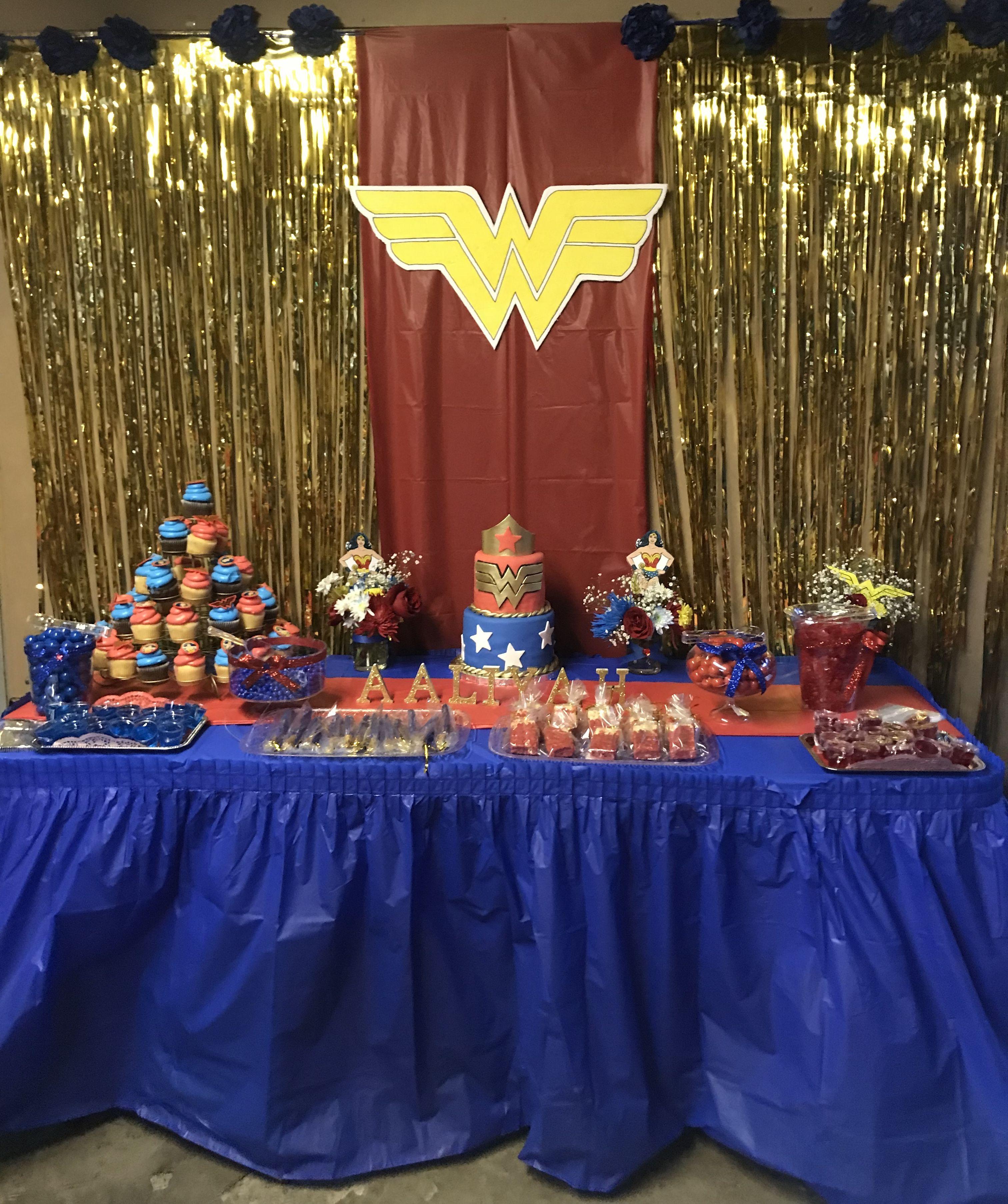 Wonder Woman Birthday Theme Party Handmade Budget Friendly Wonder Woman Birthday Party Woman Birthday Party Wonder Woman Party