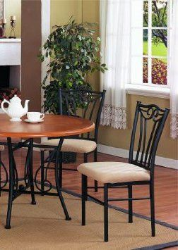 Amazon Set of 2 Black Metal Dining Chairs Furniture & Decor