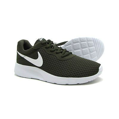 bb0f074aea49 Nike Tanjun Mens 812654-311 Cargo Khaki Mesh Athletic Running Shoes Size 8
