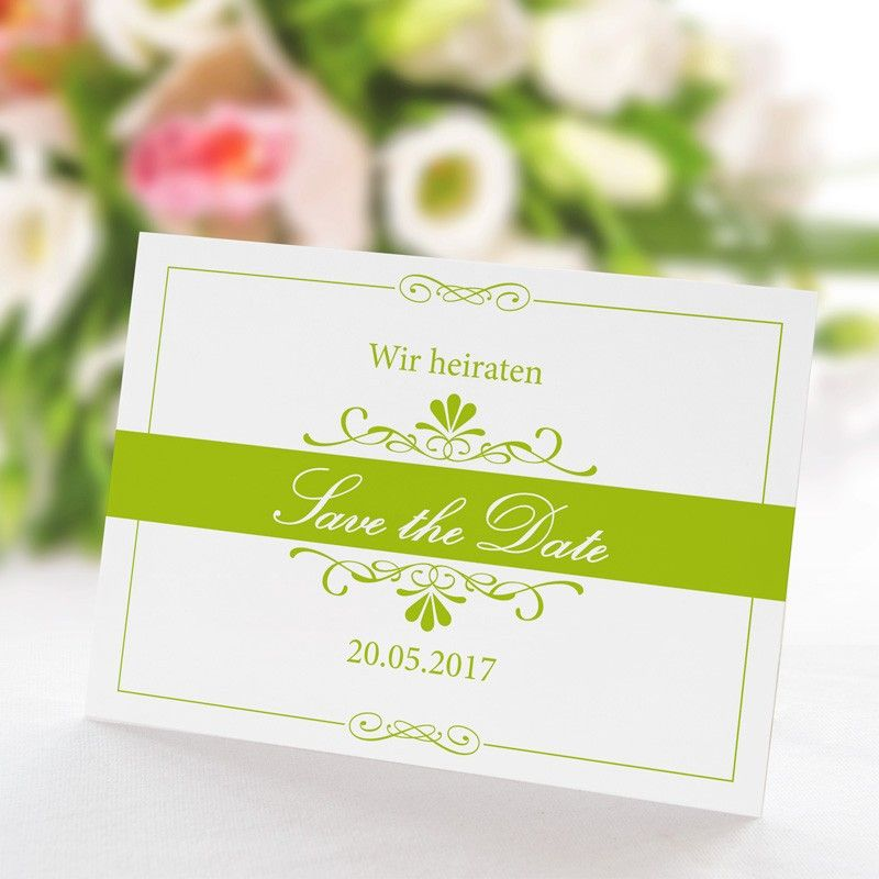Save the Date Karte Hochzeit Bella