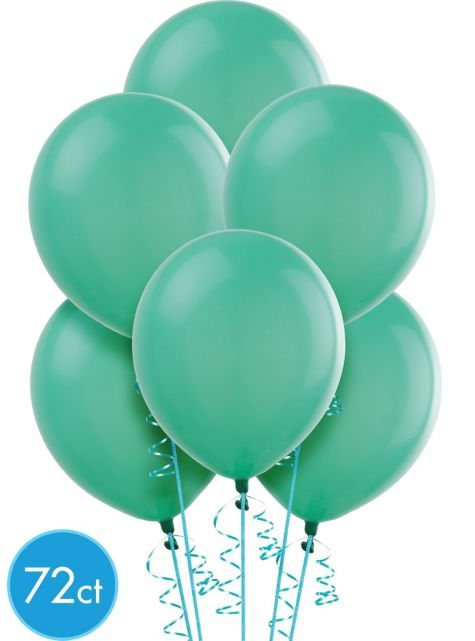 Aqua Latex Balloons 12in 72ct Latex Balloons Birthday Balloons
