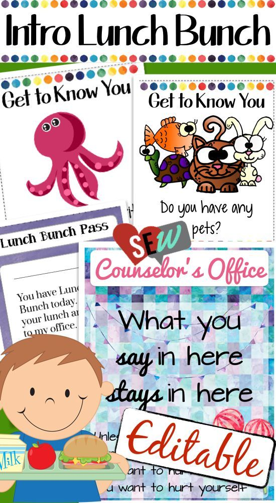 Lunch Bunch ActivityGet to Know You Game, Office Signs