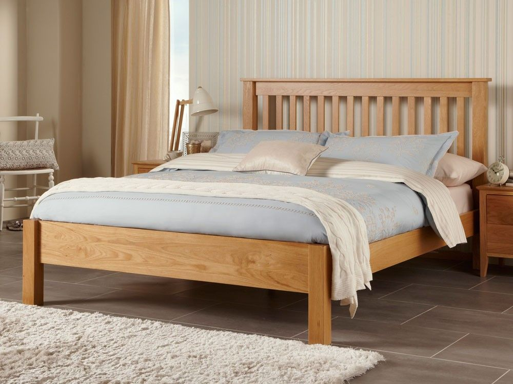 Lincoln American White Oak Kingsize 5ft Bed Frame Bed Furniture
