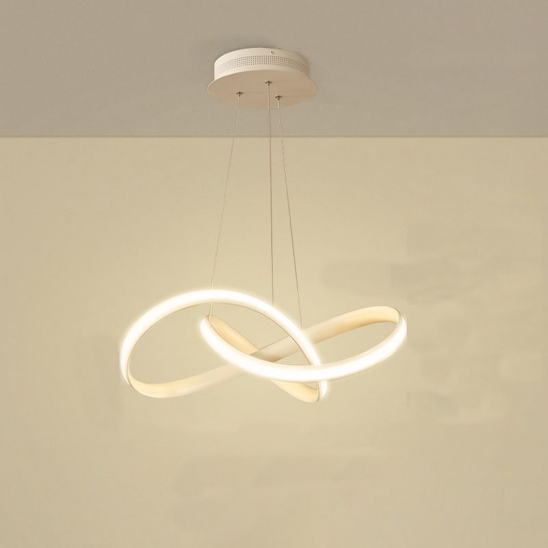 Modern Pendant Lighting White LED Pendant Light for Contemporary Living Dining Room Kitchen Island Dimmable Chandelier Dimming Ceiling Lamp Minimalist