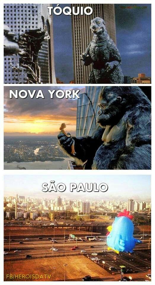 Godzilla, King Kong e Galinha Pintadinha | Piadas memes, Memes engraçados,  Meme engraçado