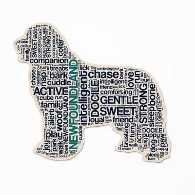 Newfoundland Dog Breed Cutout Vinyl Decal Bumper Sticker Characteristic Silhouette Newfoundland Dog Training Your Dog Dog Breeds