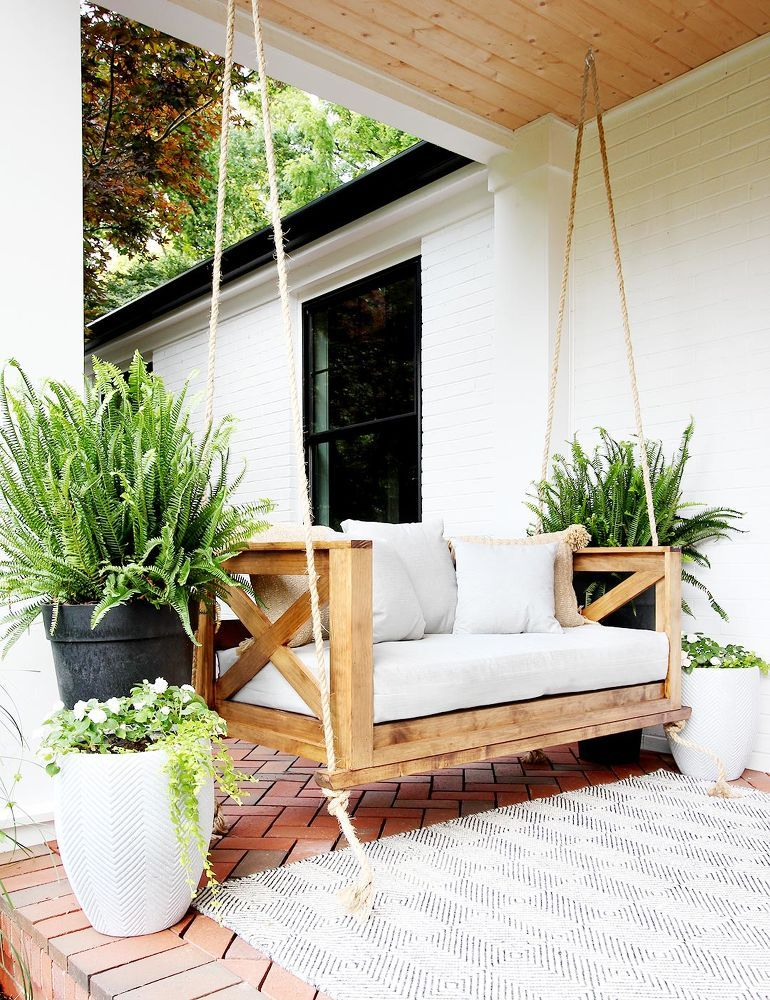 How To Build A Crib Mattress Porch Swing Diy In 2020 Diy Porch Swing Porch Swing Bed Porch Swing