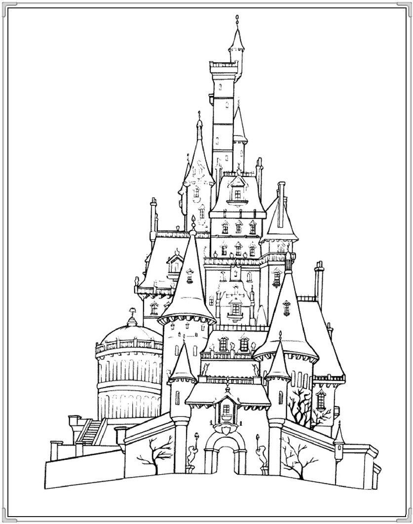 Tranh Tô Màu Lâu đài Rực Rỡ Cho Bé Hình ảnh 5 Lâu đài
